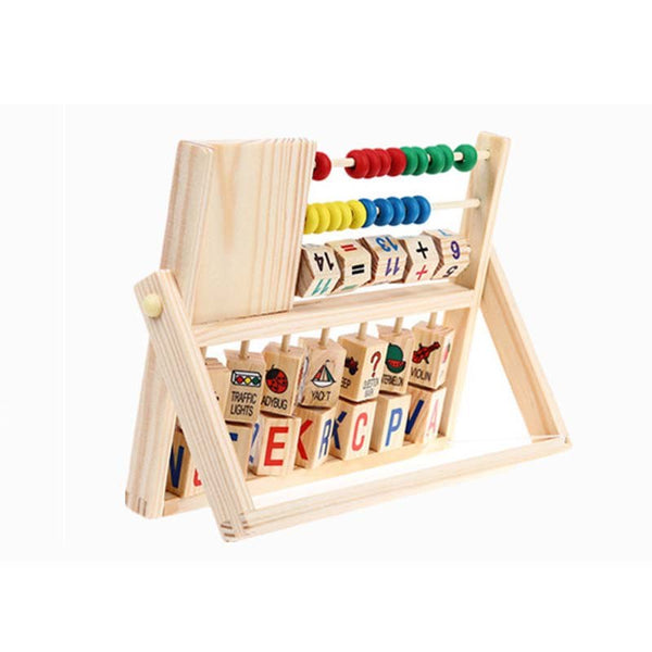 Multifunction watch smiley shelf computer educational wooden Toys