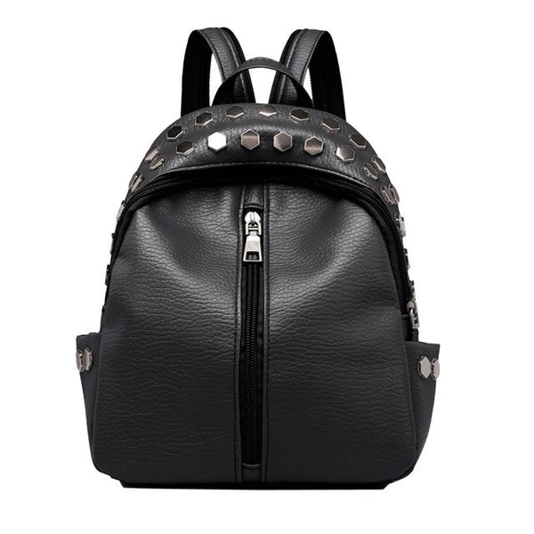 Women Leather Backpack Satchel Travel School Bag