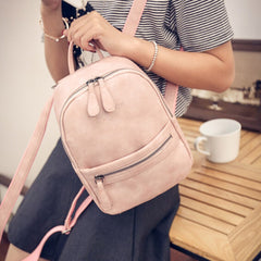 Women Backpack PU Leather girls school bag