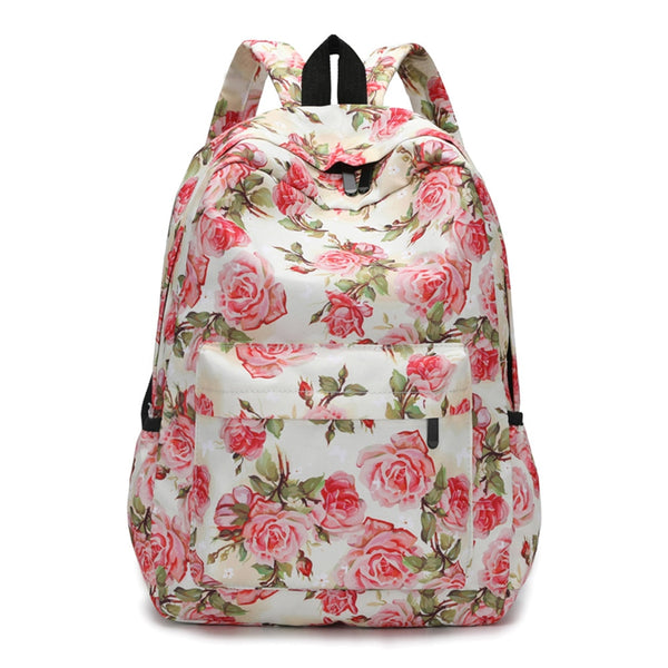 Women Backpacks Floral Print Bookbags