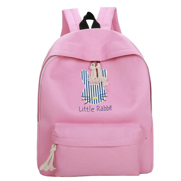 Girls Cute Cartoon Rabbit Preppy Style School Bag