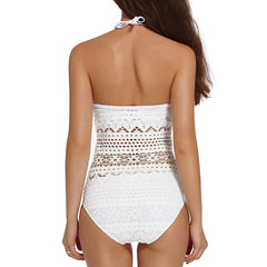 Women Sexy Beach Lace Crochet Swimsuit Retro