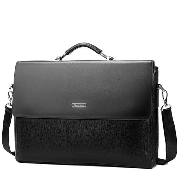 Black Leather Shoulder Bags men's