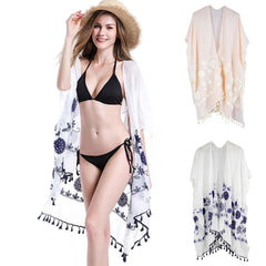 Women Smock Sexy Printed Bikini Swimwear Beach Cover Up