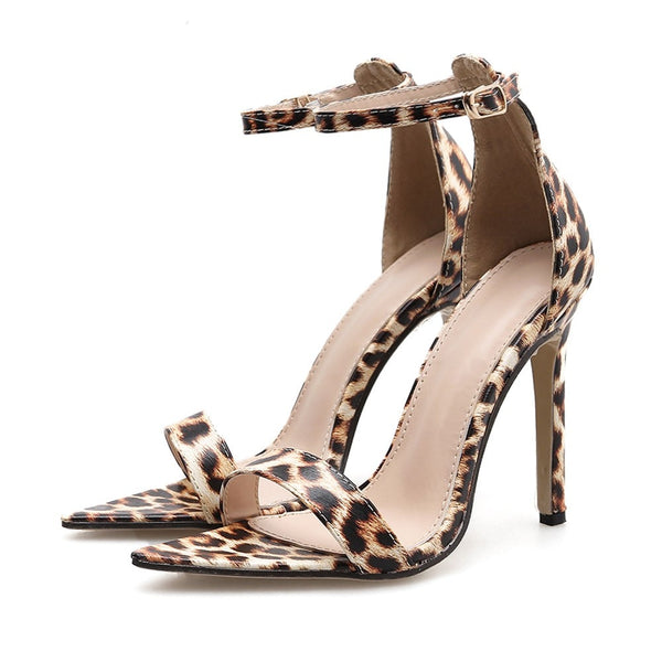 Women One-Point Buckle Cool High Heel Pumps Shoes