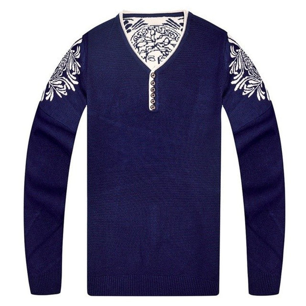 Sweaters and Pullovers V-neck Men Long Sleeve