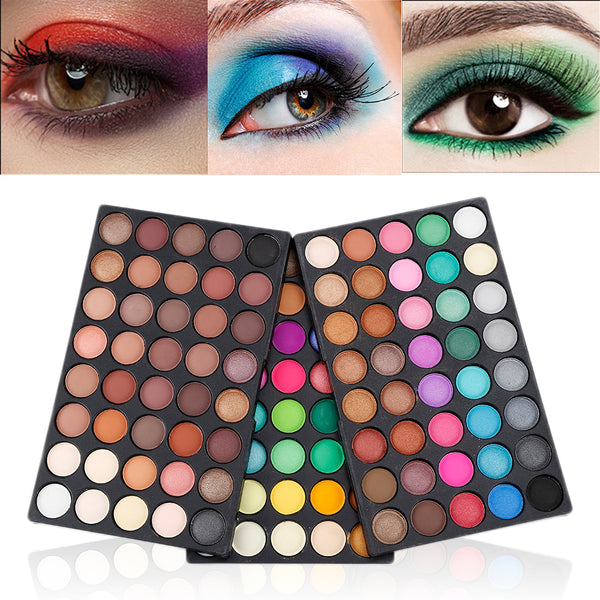120 Colors Palette Matte Eye Shadow Makeup Warm Cosmetics