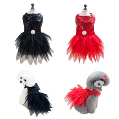 Pet Dog Lace Princess Skirt Party Tutu Dancing Ballet Stage