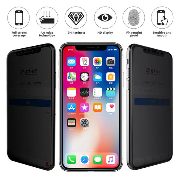 9D Soft Edge Privacy Tempered Glass for IPhone X XS MAX XR 8 8Plus 7 Plus 6 6Plus