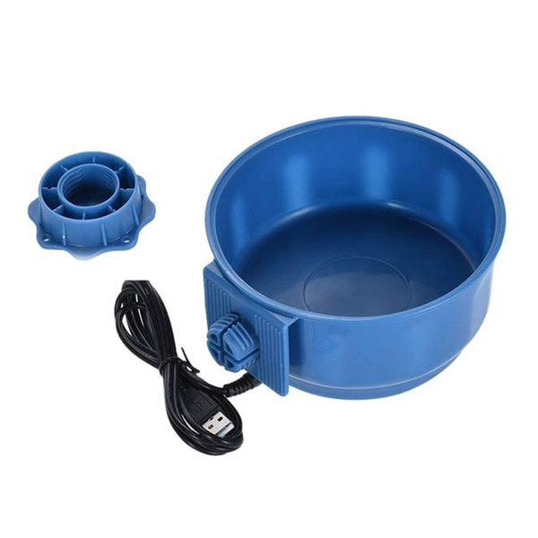 USB Dog Heated Pet Feed  Cage Heated Water Bowl Constant