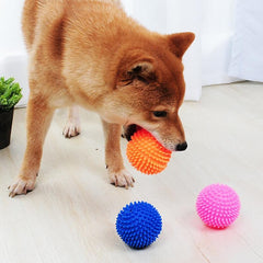 Vinyl Dog Toys Pet Chew Rubber Tooth Cleaning Red Ball Food