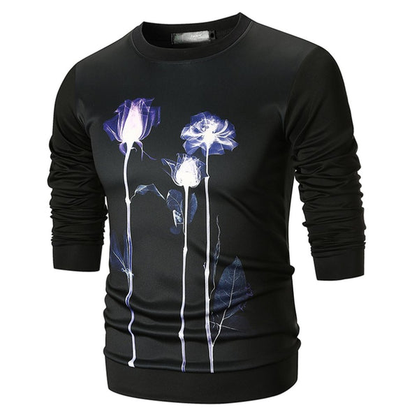 Autumn Winter Men Sweatshirt 3D Printed Space Cotton