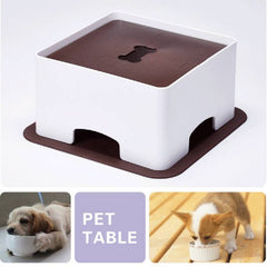 Pet Dogs & Cats Table Dish Rack Height Setting To Develop Bowl