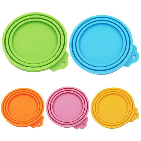 Dog Bowls Silicone Canned Lid PLASTIC  Food Seal