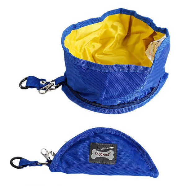 Collapsible Travel Pets Foldable Dog Cat Camping Bowl