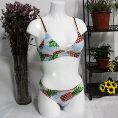 2PCS Pineapple Printing Swimsuit