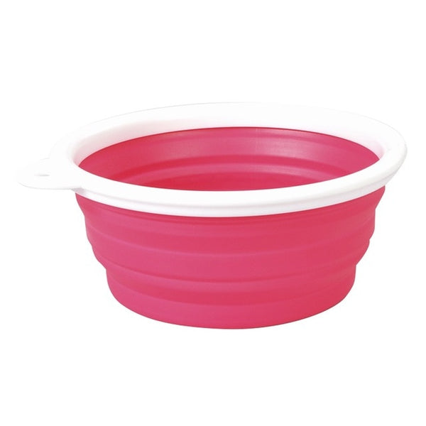 Pet Dog Cat Portable Feeder Travel Bowl  Collapsible Silicone Water Dish