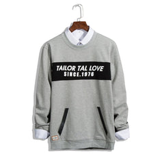 Casual Men Hoodies Letter Printed Long Sleeves Sweatshirt