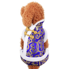 Pet Costume Chinese Spring Festival Dog Clothes Tang Suit