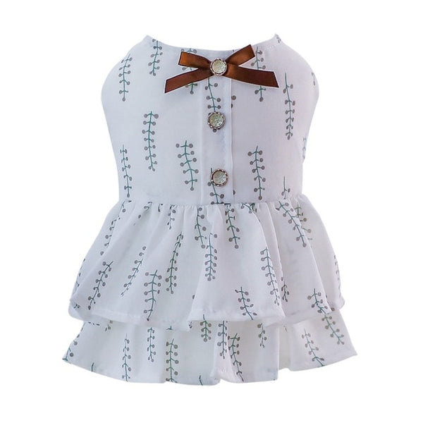 Pet Spring And Summer Butterfly Fluffy Dress Cute Princess