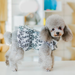 Winter Pet Dog Clothes Dress Fashion Skirt Bowknot Sweety Princess