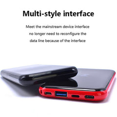 Wireless power bank 10000mAh LCD  External Battery Portable Charger