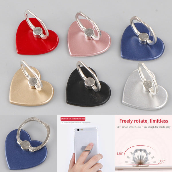 360 degree Love Heart Phone Holder For Ring Handset Bracket