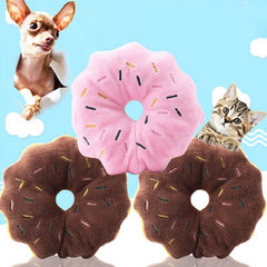doughnut pet dog cat Sound squeakers squeaky Toy supplier