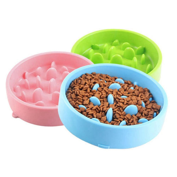 Non-slip Pet Slow Feeder Bowl for Developing Healthy Diet Improve