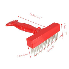 Red Dog Brush Comb Gilling Beauty Bath Massage Grooming