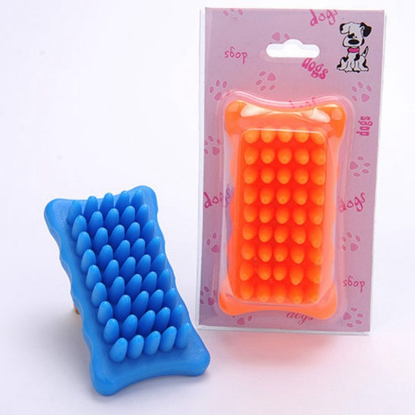Pet Dog Cat Bath Brush Comb Rubber Glove Hair Fur Grooming Massaging