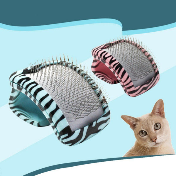 Self Dog Cat Cleaning Steel Pin Brush Portable Pet Comb