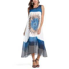 Women Chiffon Casual Loose Summer Beach Dress