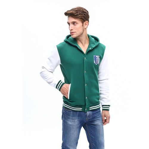 Sweatshirt Cosplay Costumes Men Hoodies Zipper