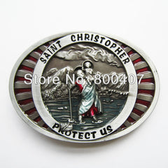 Belt Buckle Christopher Religion Vintage