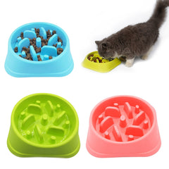 New 1pcs Pet Slow Feeder Anti Choke Anti-Gulping Dog Bowl