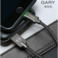Auto Disconnect USB Cable 2.4A Fast Charging Charger Data Cable