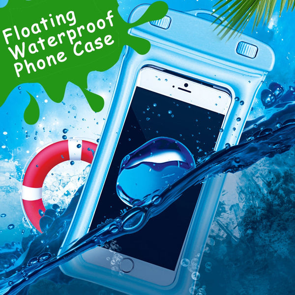 Floating Waterproof Phone Case  Pouch Cell Phone Dry Bag For iPhone X 8 7 6Plus