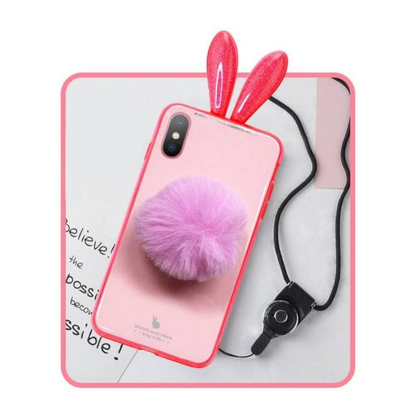 Pink Applicable iPhoneXS Couple Mobile Phone Shell Custom