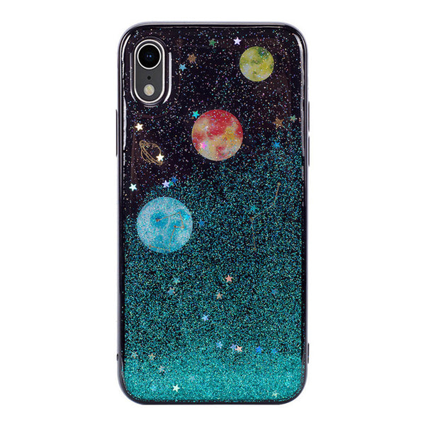 CARPRIE Bling Planet Print Soft TPU Case Cover For iPhone XR 6.1 Inch