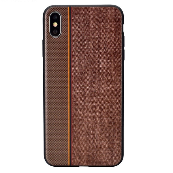 iPhone XS MAX 6.5Inch SLIM Luxury Leather Back Ultra Thin