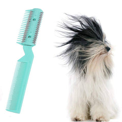 Superior Dog Trimmer Random Color Simple Hair Grooming Comb