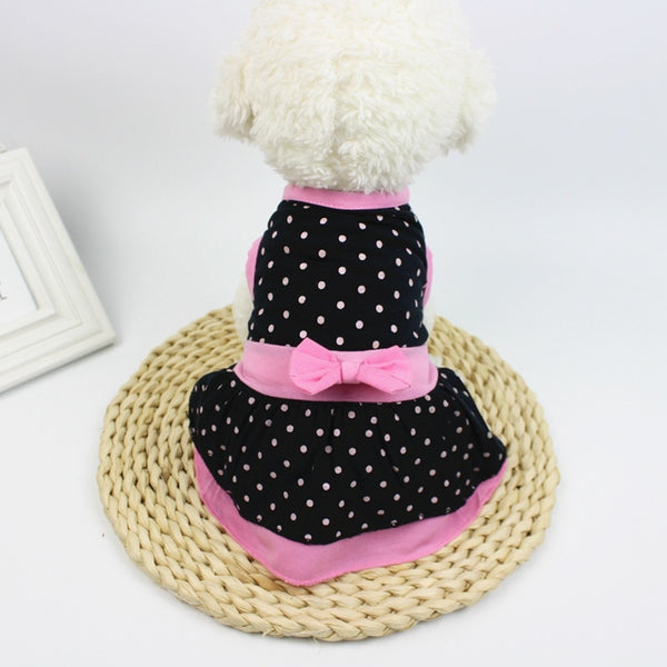 Pet Spring Summer Dress Skirt  Princess Clothes for Small