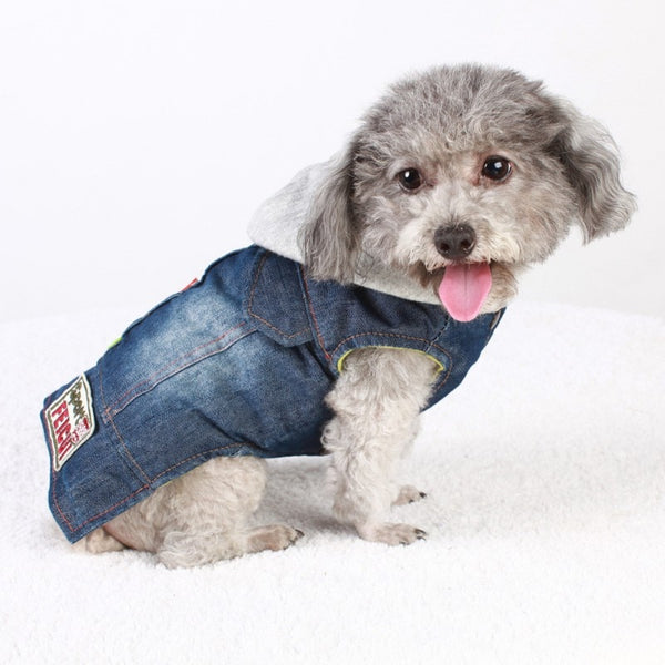 Coat Casual Hoodies Apparel Jean Vest for Puppies