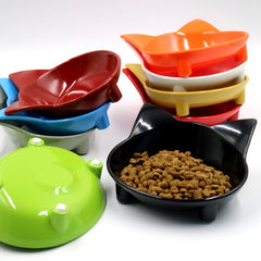 Pet Products Food Water Bowl Cat Face Dog Anti-skid