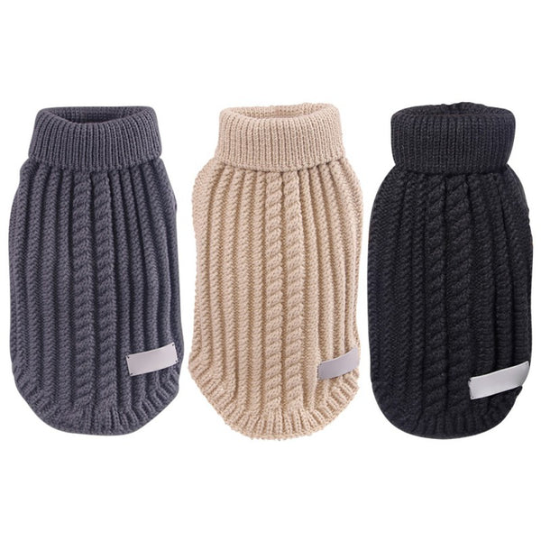 Classic Straw-Rope Hoody Sweater Coat for Small Dogs