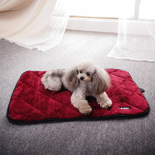 Pet Dog Puppy Cat Kennel Pad Bed Cushion Coral Fleece Mat Warm Soft Blanket
