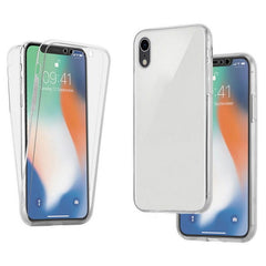 For Apple iPhone XR 6.1 inch Clear 360 Protective Front & Back T