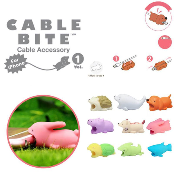 Cute Cable Protector Bite Animal Charger Protector Biter USB Dog Panda Animal Phone Connector