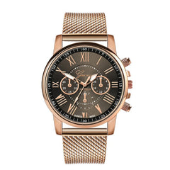 Sport Military Stainless Steel Dial Leather Band Fashion Casual Women's Watches